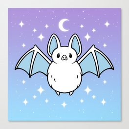 Cute Night Bat Canvas Print