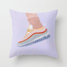 Air Max 97 Football Grey Throw Pillow