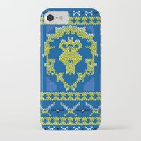 warcraft iPhone & iPod Cases featuring Ugly Sweater 1 by SlothgirlArt
