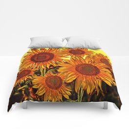 sunflowers family Comforters