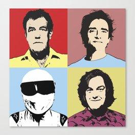 Top Gear Team Pop Art Canvas Print