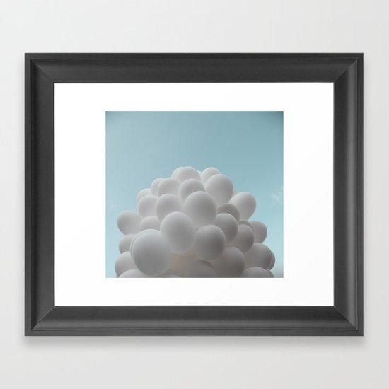 Lighter than air - balloons Framed Art Print