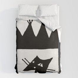 Square cat Duvet Cover