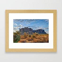 Superstition Landscape Framed Art Print