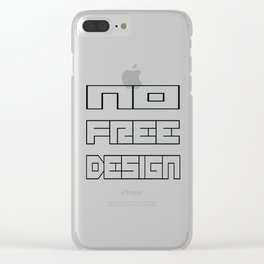 NoFreeDesign Clear iPhone Case