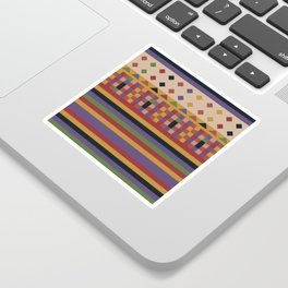 Stripes and squares ethnic pattern Sticker