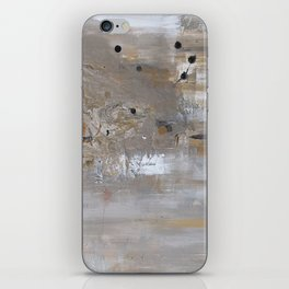 Silver and Gold Abstract iPhone Skin