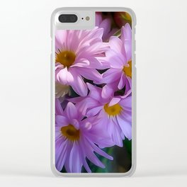 Purple Shasta Daisy Clear iPhone Case