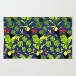Toucan in the jungle Rug