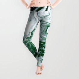 Green Ocean Marble Leggings