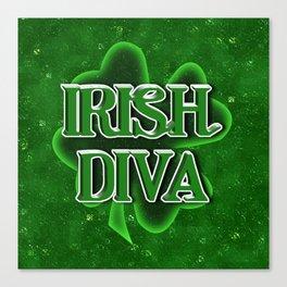 Irish Diva - St Patrick's Day Shamrock Canvas Print
