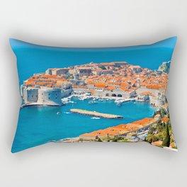 Croatia Harbor Rectangular Pillow