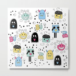Little Monsters Metal Print