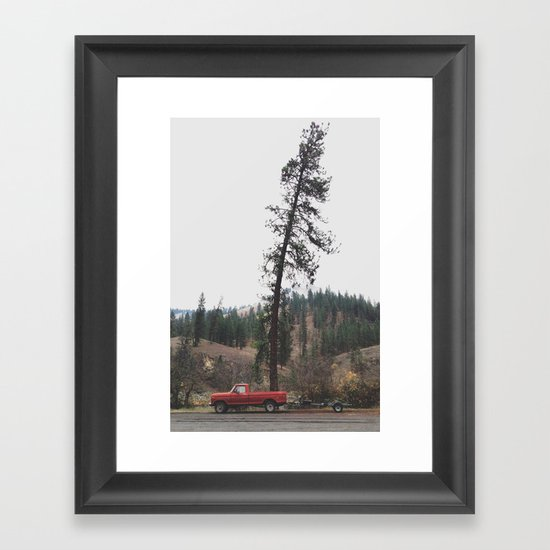 Tree Truck Framed Art Print
