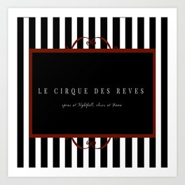 Night Circus Invitation Art Print