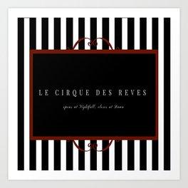 Night Circus Invitation Art Print
