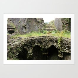 Caerphilly Castle Ruins Art Print