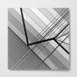 Gray Geometry 2 Metal Print