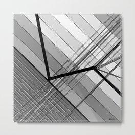Gray Geometry 2 Metal Print