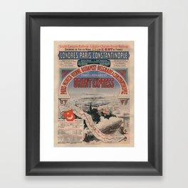Vintage poster - Orient Express Framed Art Print