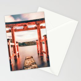 Hakone, onsen, Japan watercolor painting  Stationery Cards