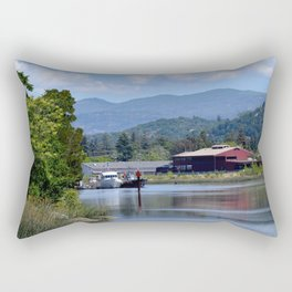 around the river bend Rectangular Pillow