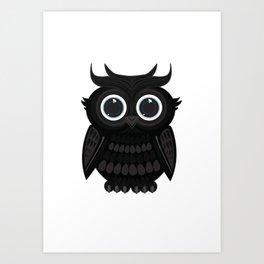 Black Owl Art Print