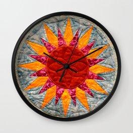 The Golden Sun Star Wall Clock