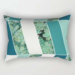 Teal Herringbone #society6 #teal #succulent Rectangular Pillow