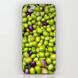 Green Olives pattern iPhone Skin