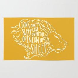 Lions don't lose sleep Rug