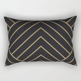 Diamond Series Pyramid Gold on Charcoal Rectangular Pillow