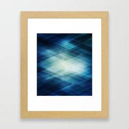 Amazing Abstract Triangular Galaxy - Visual Art V.6 Framed Art Print