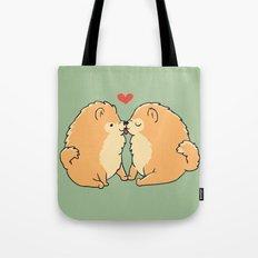 Pomeranian Kisses Tote Bag