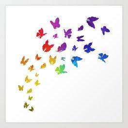 Rainbow Butterflies Art Print