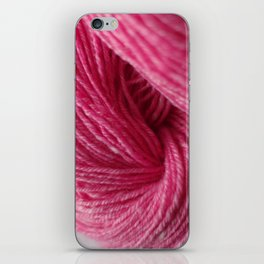 Hot Pink Handspun Wool Yarn iPhone Skin