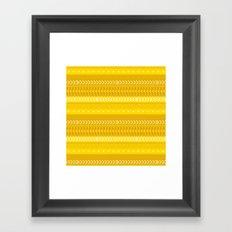 Indomitable - tribal geometrics Framed Art Print