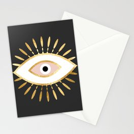 gold foil evil eye in blush Stationery Cards