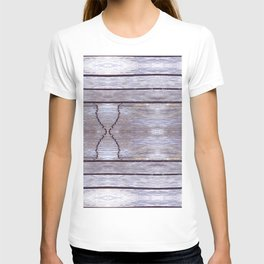 Cracked Wood Photo T-shirt