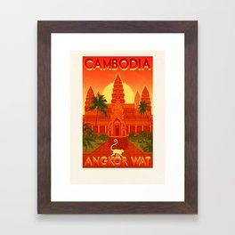 Cambodia - Angkor Wat Framed Art Print