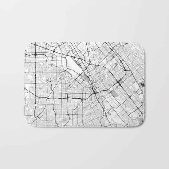 San Jose Map Gray Bath Mat
