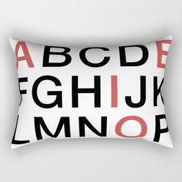 Helvetica Poster Rectangular Pillow