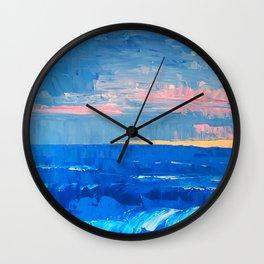 Golden Sand Seascape Wall Clock