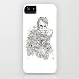 Man of steel doodle iPhone Case