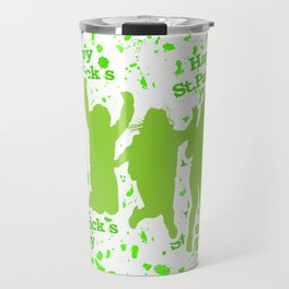 Saint Patrick Motif Pattern Travel Mug