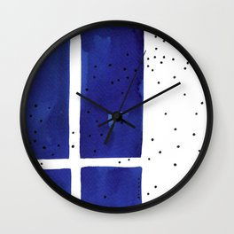 Ultramarine #8 Wall Clock