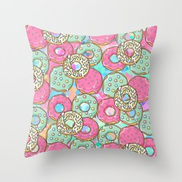 Sweet Donuts Cookies Throw Pillow