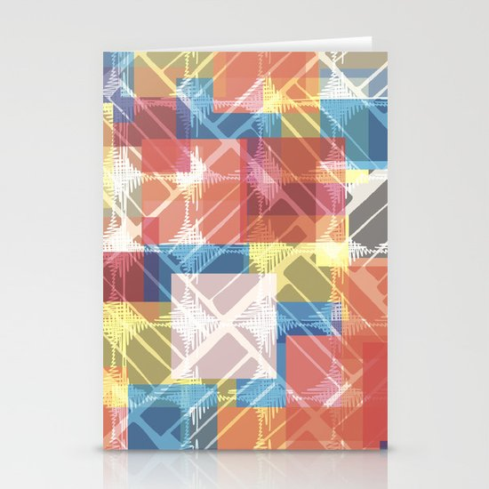 squares n holes... Stationery Cards
