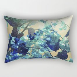 Sunny Blue Rectangular Pillow