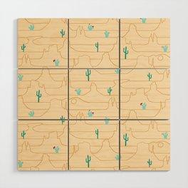 The Call of the Desert Wood Wall Art